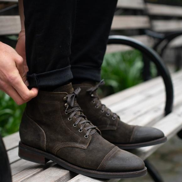 Thursday Boots Mens Dark Olive Suede